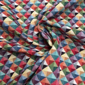Møbesltof med mønster. Små trekanter