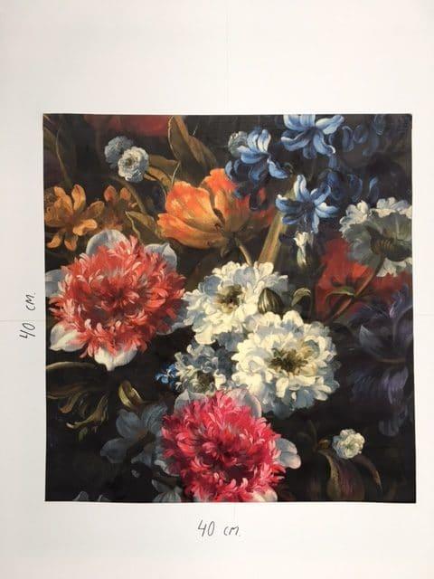 Mønstret velour med blomster