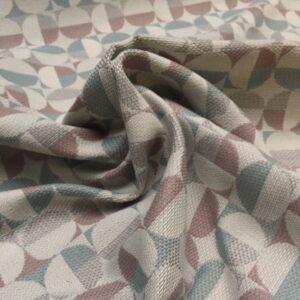 Møbelstof med mønster i cirkler