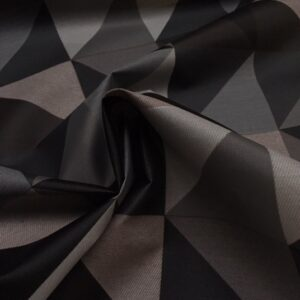 Tekstildug med mønster i grå fra Skumhuset.