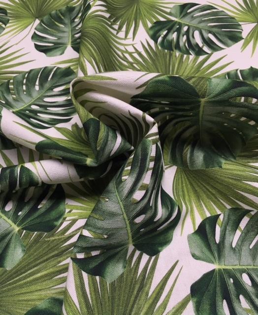 Mønstret bomuld med blade fra Skumhuset