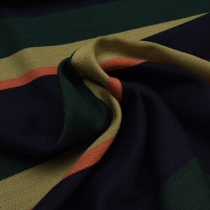 Bestla blå fra Kvadrat med striber i blå, lys grøn, mørkegrøn og orange