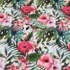 Mønstret bomuld med blomster og blade fra Skumhuset