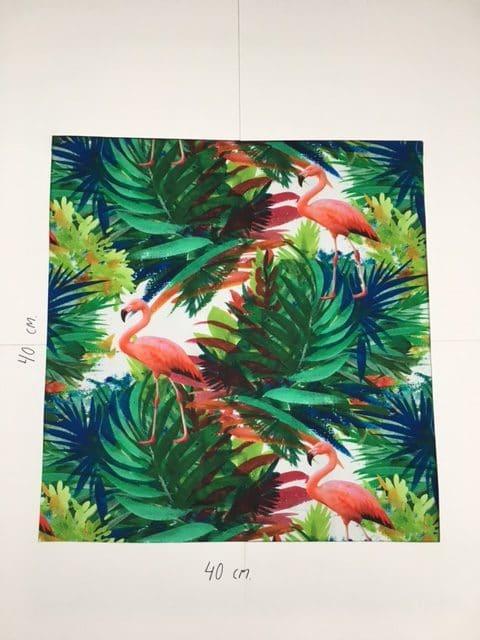 Mønstret bomuld med flamingoer fra Skumhuset