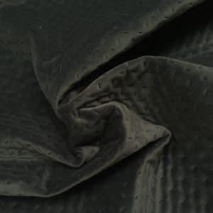Quiltet velour i grå fra Skumhuset.