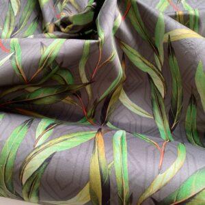 møbelvelour med grønne blade