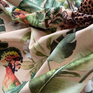 møbelvelour med safaridyr