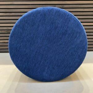 puf fløjl blå