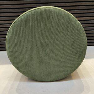 puf fløjl grøn