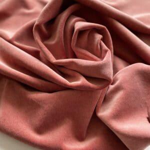 velour støvet rosa