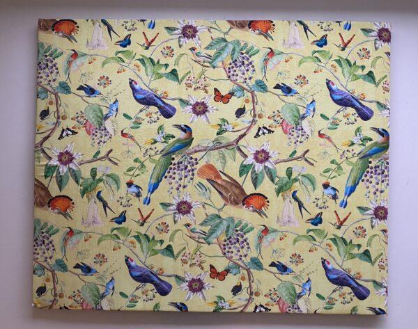 tumlemadras fugle og blomster