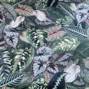 Velour med grønne blade