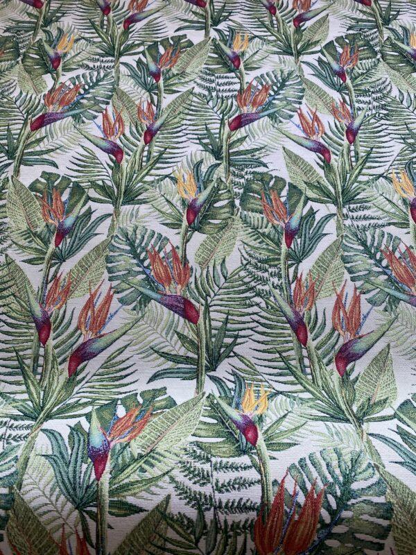 Møbelstof med mønster - Paradisfugl