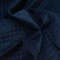 Quiltet velour - Mørkeblå - 194,- pr. m.
