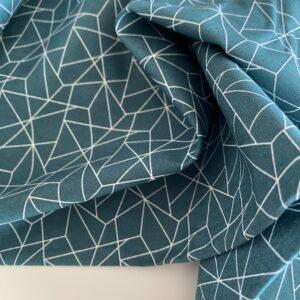 mønstret bomuld grøn