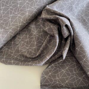 mønstret bomuld grå