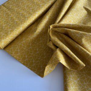 mønstret bomuld gul
