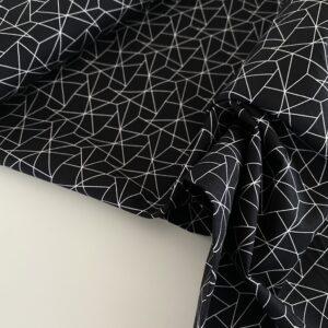 bomuld med grafisk mønster