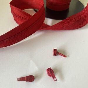 lynlås metermål rød